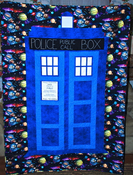 Blue Box Tardis Themed Quilts Inspired By Doctor Who Lefty